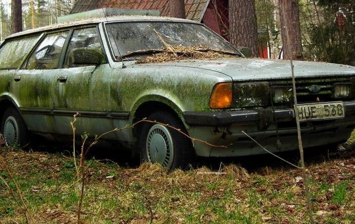 Junk Car in field