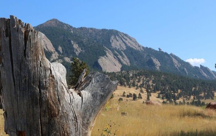 Mountain near the city of boulder, CO