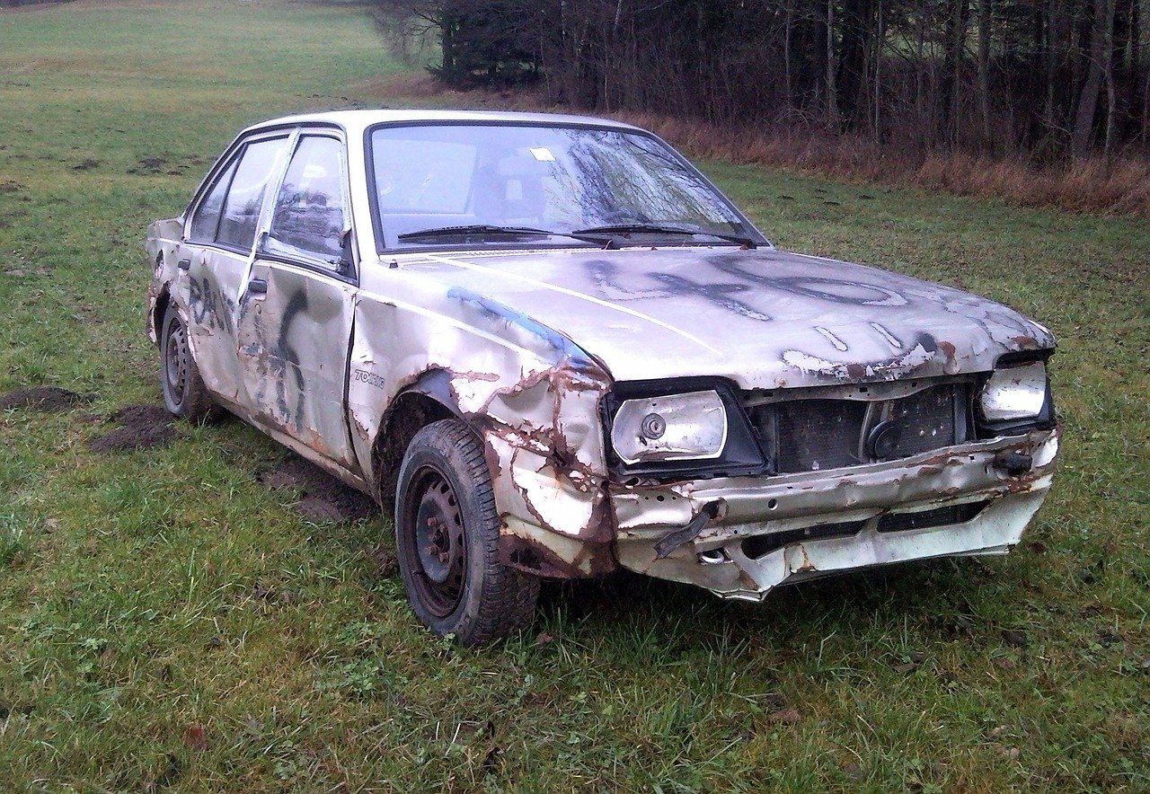 wrecked car for sale